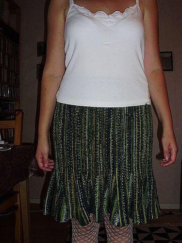 Stickad kjol