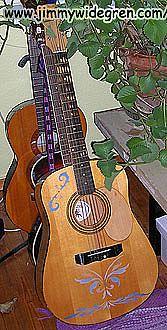 Guitarr med shablon målning